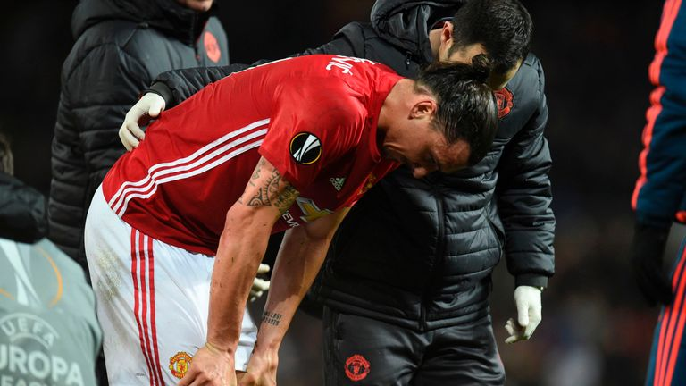 Zlatan Ibrahimovic's knee injury will sideline him for the rest of the year