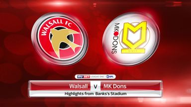 Walsall 1-4 MK Dons