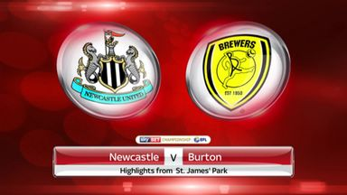 Newcastle 1-0 Burton