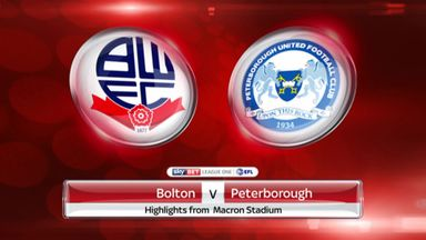Bolton 3-0 Peterborough