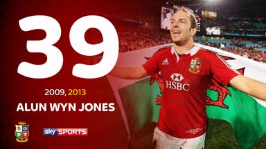 Alun Wyn Jones toured in 2009 and was part of the winning tour of Australia in 2013