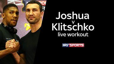 Joshua v Klitschko live workout