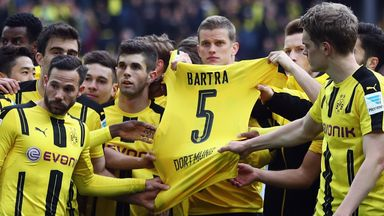 Borussia Dortmund paid tribute to injured team-mate Marc Bartra