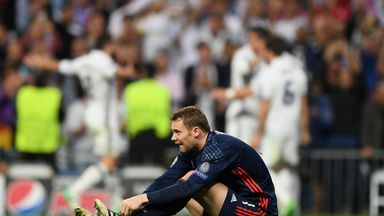 Manuel Neuer fractured his foot as Cristiano Ronaldo scored for Real Madrid against Bayern Munich