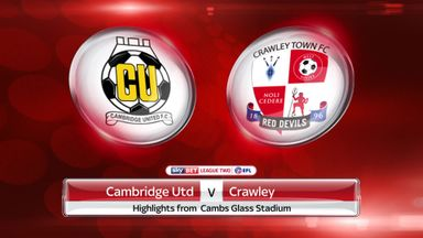 Cambridge 2-0 Crawley