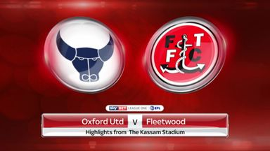 Oxford Utd 1-3 Fleetwood Town