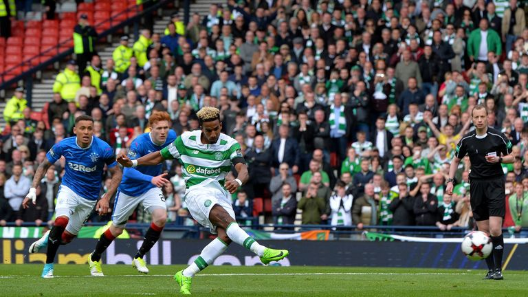 Scott Sinclair converted from the spot to double Celtic's advantage