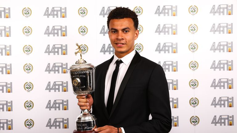 Tottenham Hotspur' Dele Alli who has won the PFA Young Player of the year award for Outstanding Contribution to Football during the 2016 PFA Awards at the