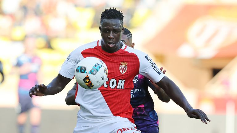 Benjamin Mendy in action during a Ligue 1 match with Bordeaux'