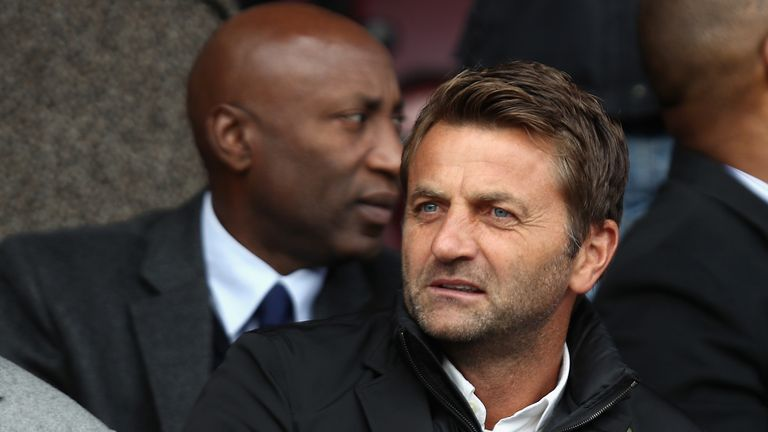 SWINDON, ENGLAND - NOVEMBER 12:  Swindon Town Director of Football Tim Sherwood looks on prior to the Sky Bet League One match between Swindon Town and Cha