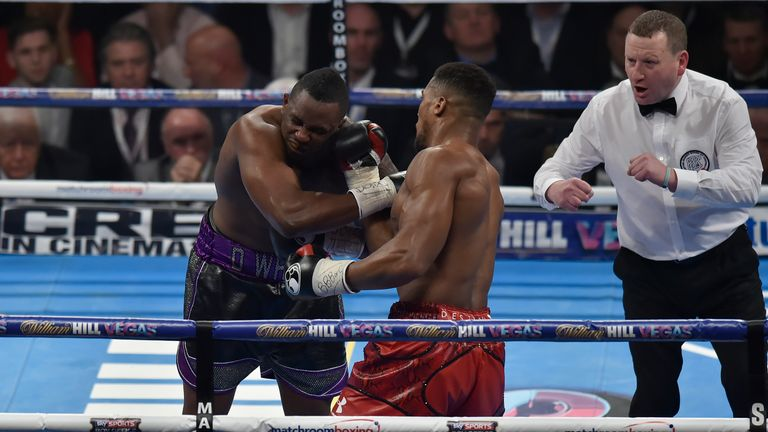 The Yorkshireman had to separate Anthony Joshua and Dillian Whyte at The O2