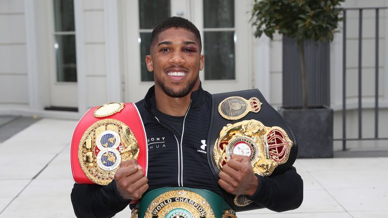 Anthony Joshua is expected to defend his world heavyweight titles in the winter