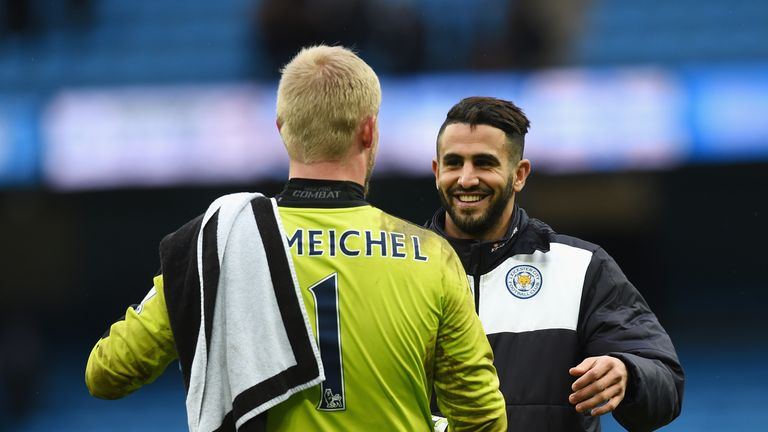The futures of Schmeichel and Mahrez at Leicester have been called into question