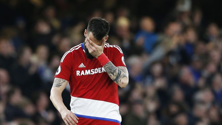 Defeat at Chelsea means Middlesbrough have been relegated to the Championship