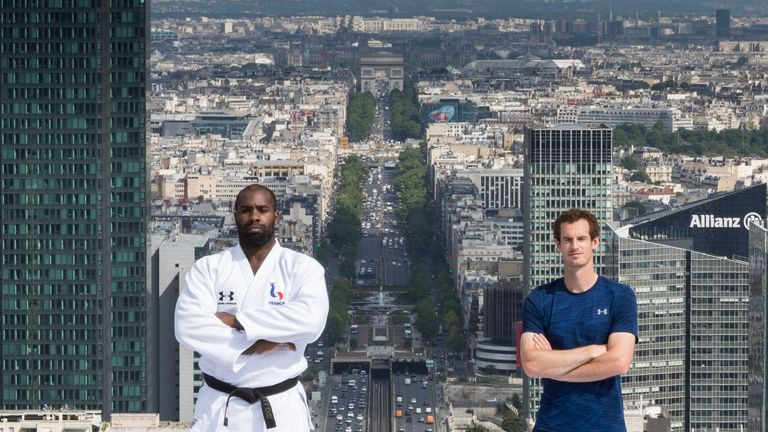 Murray was speaking at an Under Armour event where he met Olympic judo champion Teddy Riner