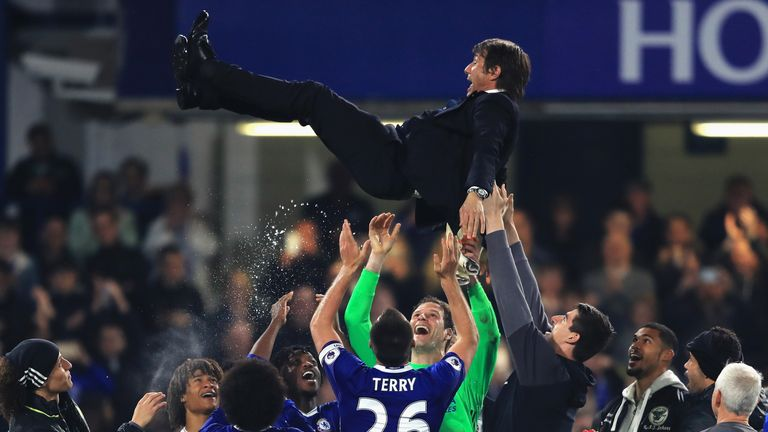 Chelsea celebrate title with Watford romp