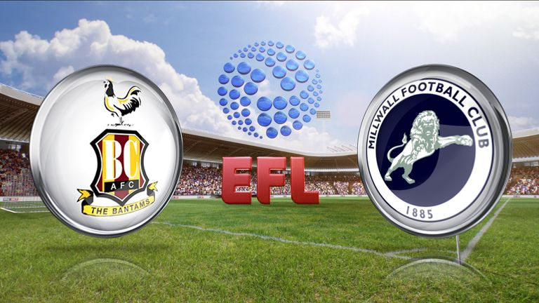 Bradford City take on Millwall, live on Sky Sports 1 from 2pm on Saturday