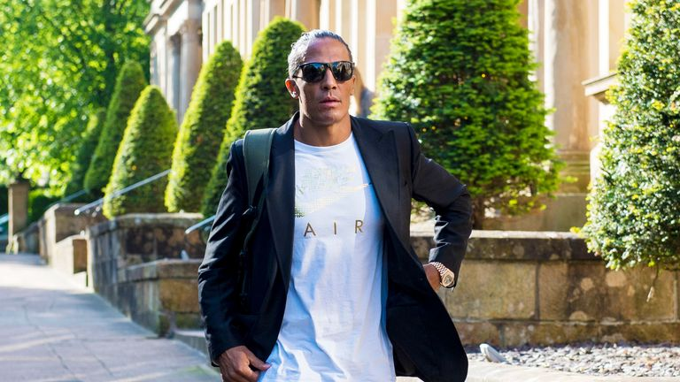 Rangers new signing Bruno Alves pictured in Glasgow on Tuesday