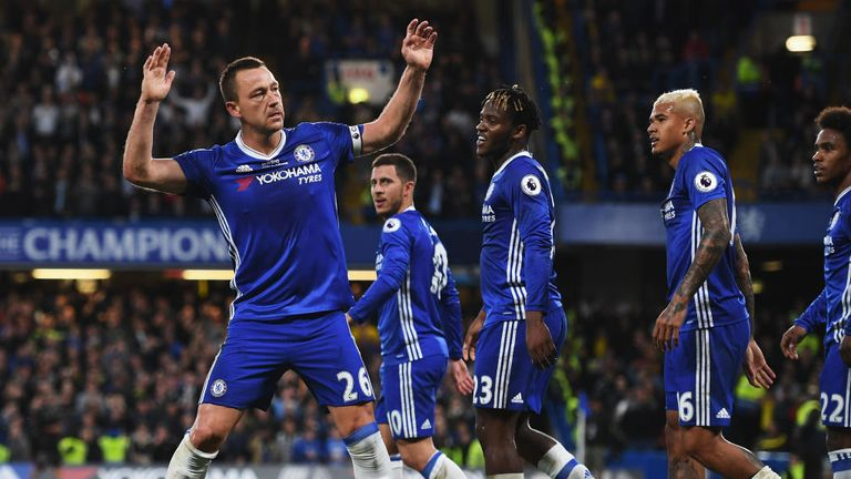 Terry saluted the fans after scoring
