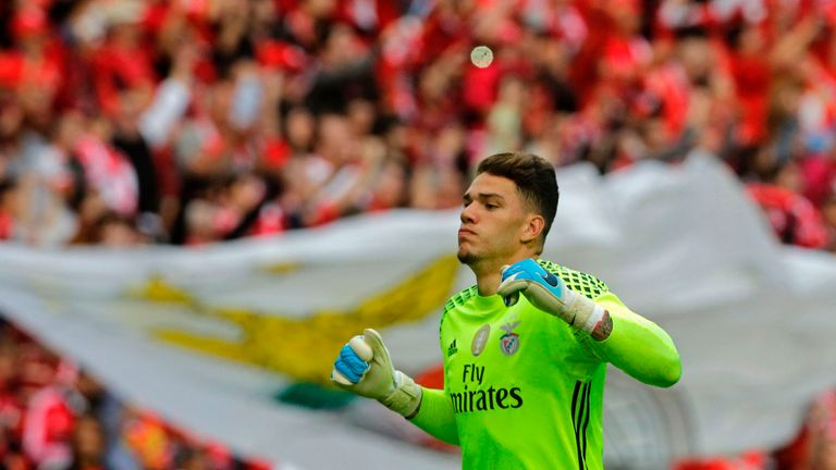 Man City signs goalkeeper Moraes for $45M from Benfica