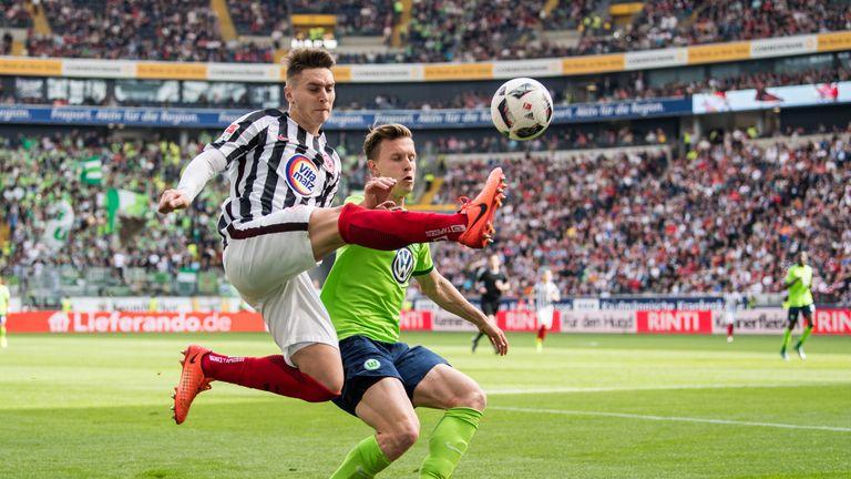 Guillermo Varela in action for Eintracht Frankfurt last season