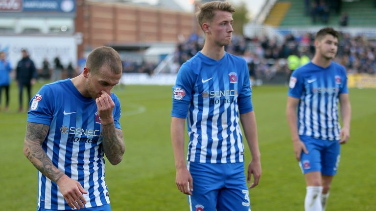 Hartlepool were relegated from League Two at the end of the 2016/17 season