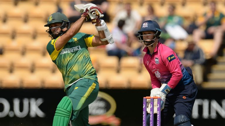 Hashim Amla struck seven fours and one six as he top-scored with 59 against Northants