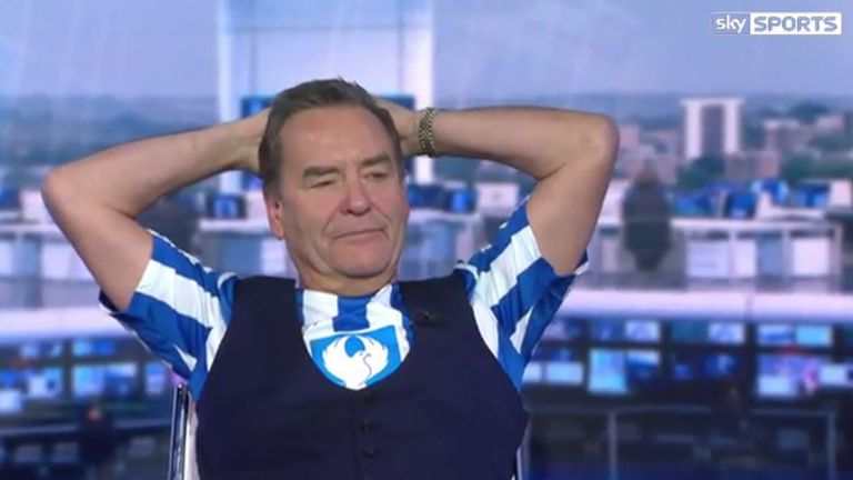Stelling wears his Hartlepool colours during Soccer Saturday