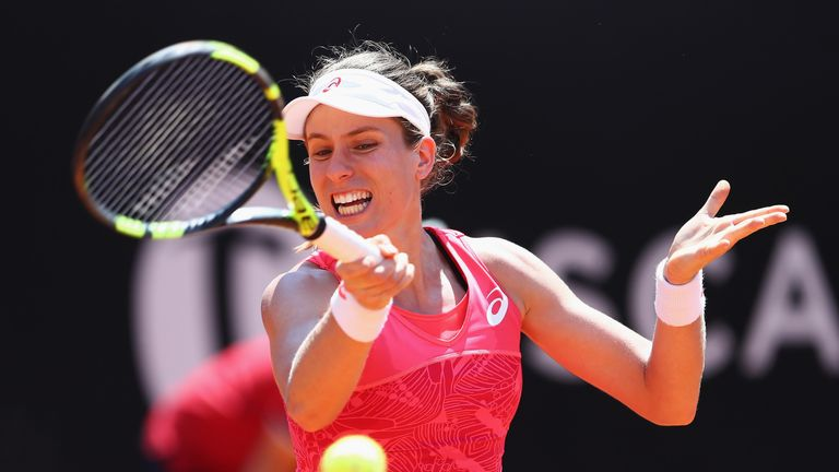 Johanna Konta was unable to overcome Venus Williams despite fighting back to win the second set in Rome