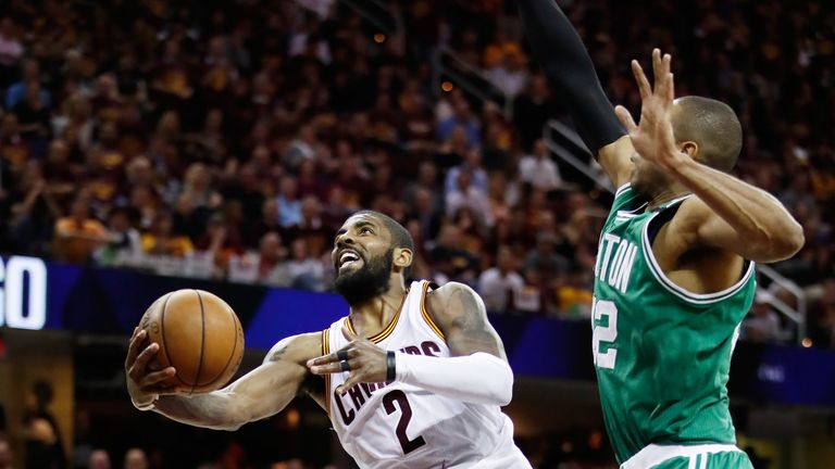 Kyrie Irving (L) is one of the NBA's top point guards
