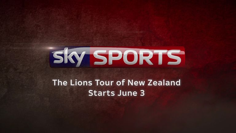 The Lions tour of New Zealand starts June 3