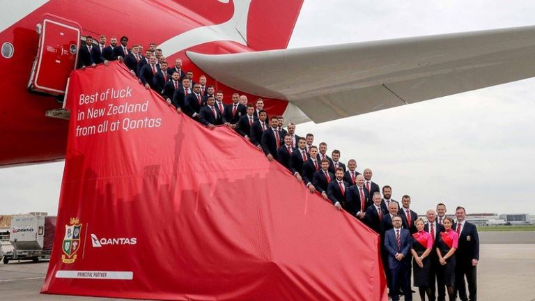 The Lions prepare to depart (@lionsofficial)