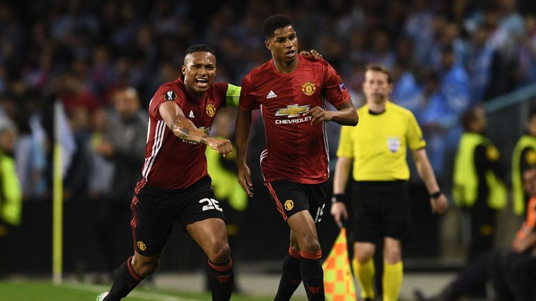 Antonio Valencia and Marcus Rashford have been praised by Thommo