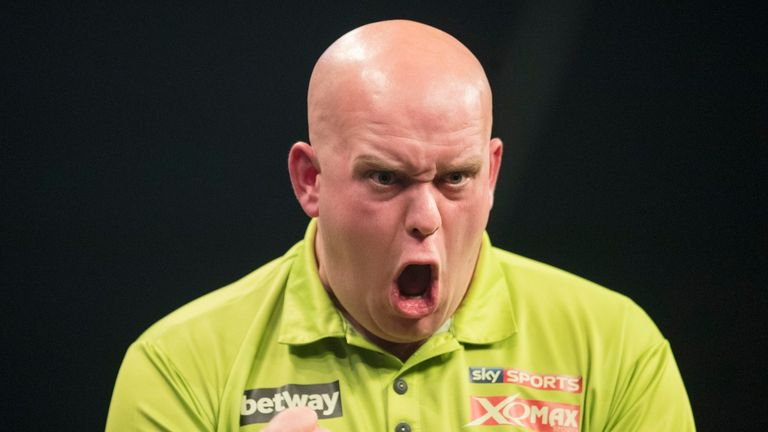 Michael van Gerwen is looking to win for a third straight year (Picture: Steve Welsh/PDC)