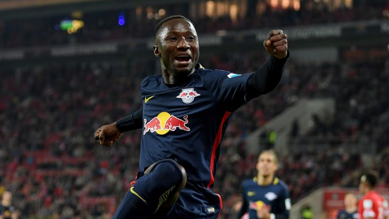 Naby Keita has scored eight goals from midfield for RB Leipzig this season