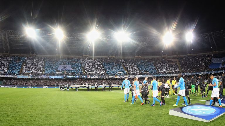 The Stadio San Paolo ahead of Napoli's Champions League tie with Real Madrid