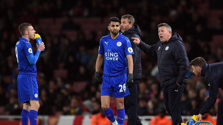 Craig Shakespeare (right) insists he wants Riyad Mahrez to stay at Leicester