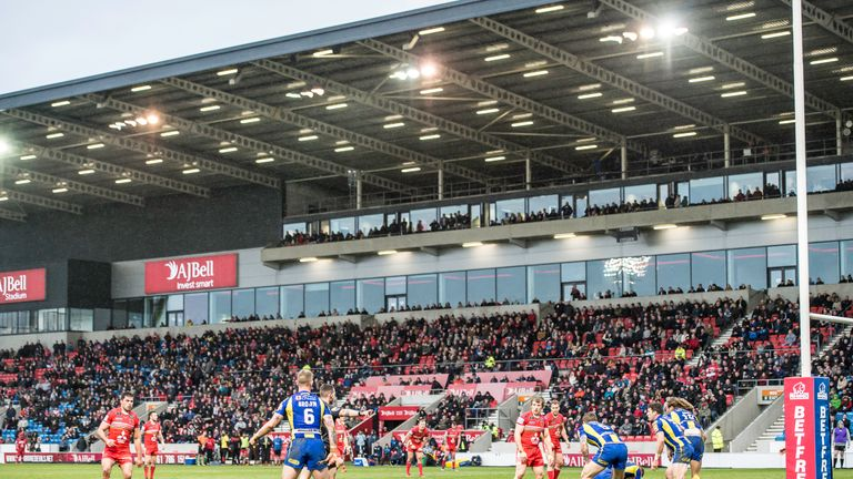 Despite Salford's good form they have struggled to grow attendances at the AJ Bell Stadium