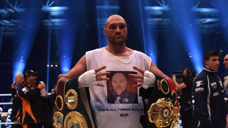 Fury held three world titles after defeating Wladimir Klitschko on points in 2015