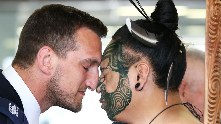 Captain Sam Warburton receives a local welcome at Auckland airport