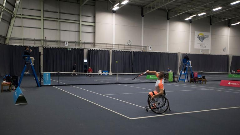 Zach coaches players in mainstream tennis and those at disability levels of the sport