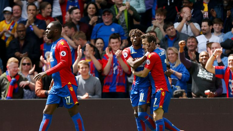 Zaha was recently voted the club's Player of the Season for the second consecutive year