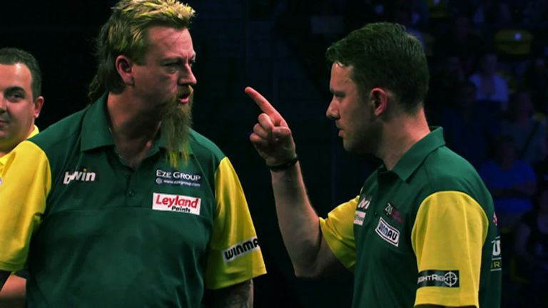 Australia's Simon Whitlock (L) has a new partner in Kyle Anderson