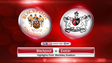 Blackpool 2-1 Exeter