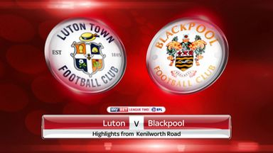 Luton 3-3 Blackpool (5-6 on agg)