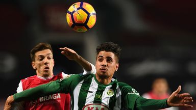 Vitoria Setubal defender Fabio Cardoso (right) is reportedly a target for Rangers