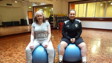 Notts County supporter Helen King (left) has told how Claire Wilmott's (right) Right Mind programme changed her life
