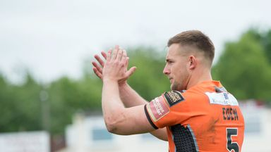 Greg Eden took his tally to 24 tries in 16 appearances with his third hat-trick in succession
