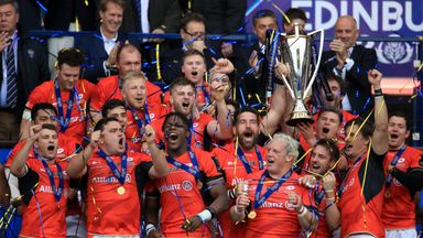Saracens retained the Champions Cup in Edinburgh last month