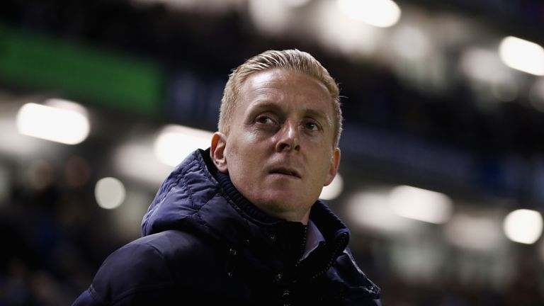 BRIGHTON, ENGLAND - DECEMBER 09: Leeds United Manager Garry Monk looks on prior to the Sky Bet Championship match between Brighton & Hove Albion and Leeds